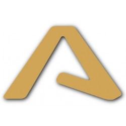 Samolepka LAMAX vyřezávaná áčko zlatá