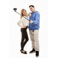 Selfie tyč PRO 112 cm černá (monopod)
