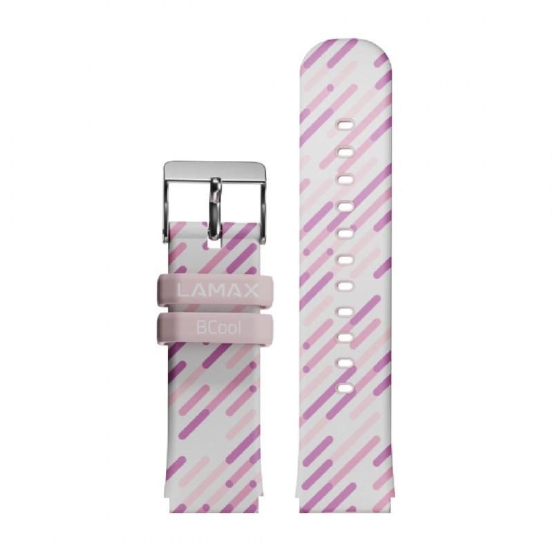 LAMAX BCool řemínek růžový s pruhy